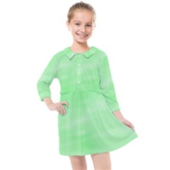 Mint Watercolor Kids  Quarter Sleeve Shirt Dress by retrotoomoderndesigns