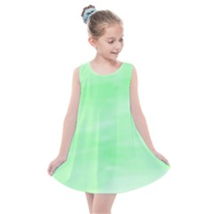 Mint Watercolor Kids  Summer Dress by retrotoomoderndesigns