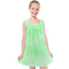 Mint Watercolor Kids  Cross Back Dress by retrotoomoderndesigns