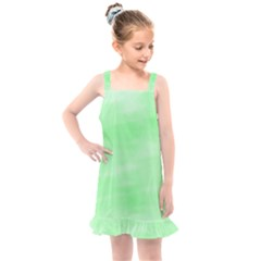 Mint Watercolor Kids  Overall Dress by retrotoomoderndesigns