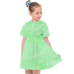 Mint Watercolor Kids  Sailor Dress by retrotoomoderndesigns