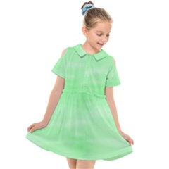 Mint Watercolor Kids  Short Sleeve Shirt Dress by retrotoomoderndesigns