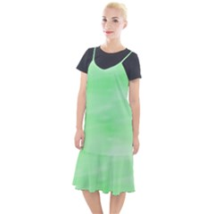 Mint Watercolor Camis Fishtail Dress by retrotoomoderndesigns