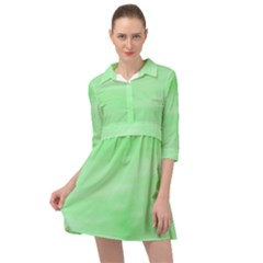 Mint Watercolor Mini Skater Shirt Dress