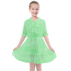 Mint Watercolor Kids  All Frills Chiffon Dress by retrotoomoderndesigns