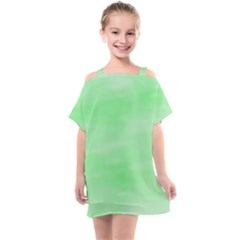 Mint Watercolor Kids  One Piece Chiffon Dress by retrotoomoderndesigns