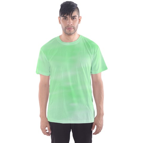 Mint Watercolor Men s Sports Mesh Tee by retrotoomoderndesigns
