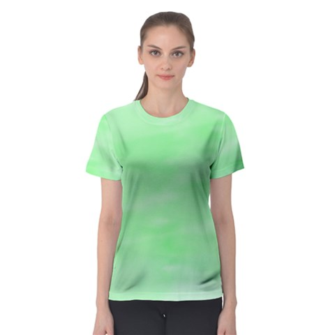 Mint Watercolor Women s Sport Mesh Tee by retrotoomoderndesigns