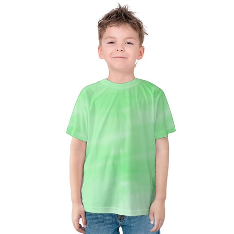Mint Watercolor Kids  Cotton Tee by retrotoomoderndesigns
