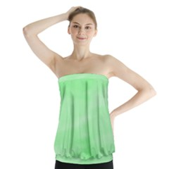 Mint Watercolor Strapless Top