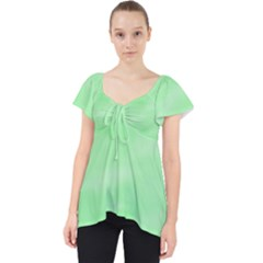 Mint Watercolor Lace Front Dolly Top