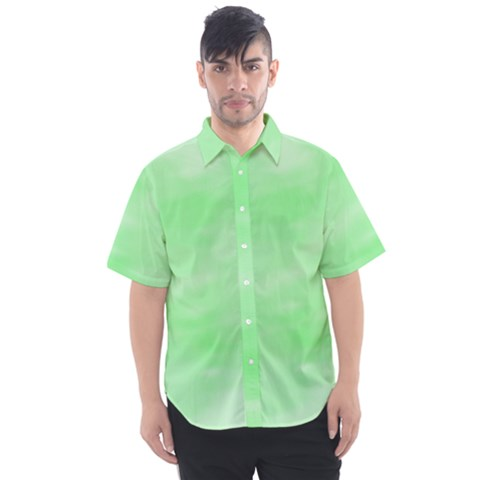Mint Watercolor Men s Short Sleeve Shirt by retrotoomoderndesigns