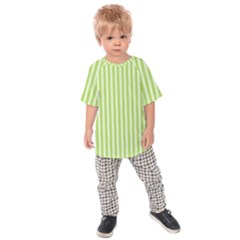 Lime Stripes Kids  Raglan Tee