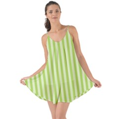 Lime Stripes Love The Sun Cover Up