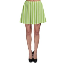 Lime Stripes Skater Skirt by retrotoomoderndesigns