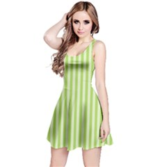 Lime Stripes Reversible Sleeveless Dress by retrotoomoderndesigns