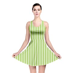 Lime Stripes Reversible Skater Dress