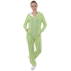 Lime Stripes Women s Tracksuit by retrotoomoderndesigns