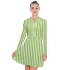 Lime Stripes Long Sleeve Panel Dress by retrotoomoderndesigns