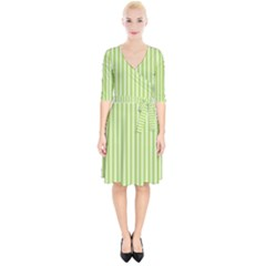 Lime Stripes Wrap Up Cocktail Dress by retrotoomoderndesigns