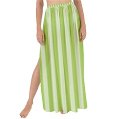 Lime Stripes Maxi Chiffon Tie-up Sarong by retrotoomoderndesigns