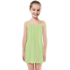 Lime Stripes Kids  Summer Sun Dress by retrotoomoderndesigns