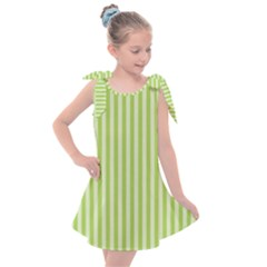 Lime Stripes Kids  Tie Up Tunic Dress by retrotoomoderndesigns