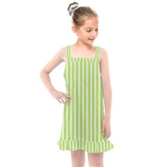 Lime Stripes Kids  Overall Dress by retrotoomoderndesigns