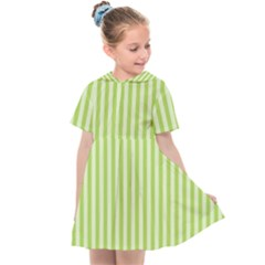 Lime Stripes Kids  Sailor Dress by retrotoomoderndesigns