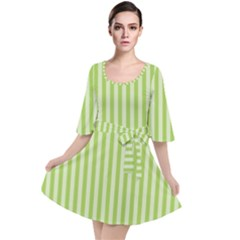 Lime Stripes Velour Kimono Dress