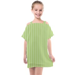 Lime Stripes Kids  One Piece Chiffon Dress by retrotoomoderndesigns