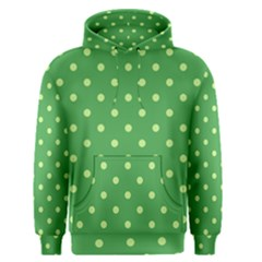 Green Polka Dots Men s Pullover Hoodie by retrotoomoderndesigns