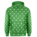 Green Polka Dots Men s Pullover Hoodie View1