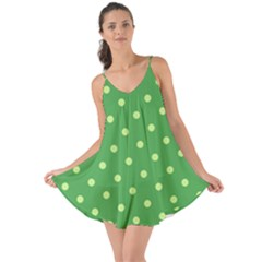 Green Polka Dots Love the Sun Cover Up