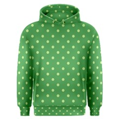 Green Polka Dots Men s Overhead Hoodie by retrotoomoderndesigns