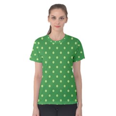 Green Polka Dots Women s Cotton Tee
