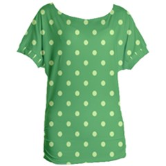 Green Polka Dots Women s Oversized Tee by retrotoomoderndesigns