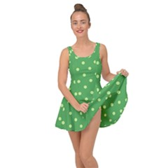 Green Polka Dots Inside Out Casual Dress