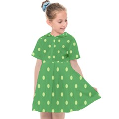 Green Polka Dots Kids  Sailor Dress by retrotoomoderndesigns