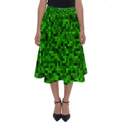 Green Mosaic Perfect Length Midi Skirt