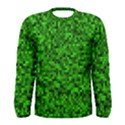 Green Mosaic Men s Long Sleeve Tee View1