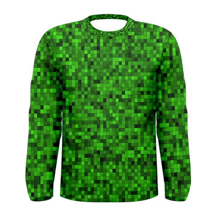 Green Mosaic Men s Long Sleeve Tee