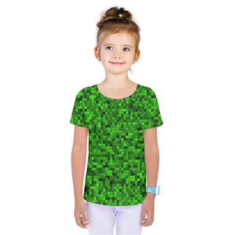 Green Mosaic Kids  One Piece Tee by retrotoomoderndesigns