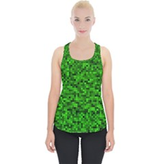 Green Mosaic Piece Up Tank Top by retrotoomoderndesigns