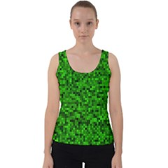 Green Mosaic Velvet Tank Top