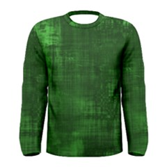 Green Grunge Men s Long Sleeve Tee by retrotoomoderndesigns