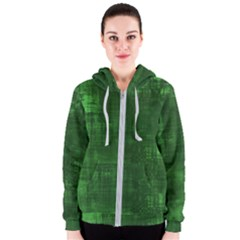 Green Grunge Women s Zipper Hoodie by retrotoomoderndesigns
