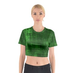 Green Grunge Cotton Crop Top by retrotoomoderndesigns