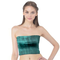 Turquoise Green Grunge Tube Top by retrotoomoderndesigns