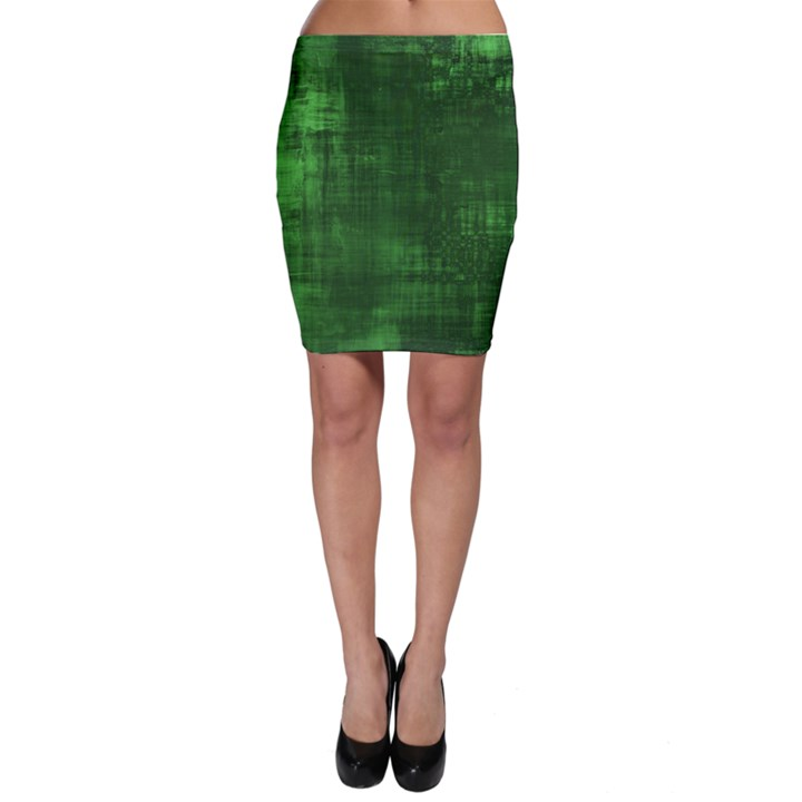 Green Grunge Bodycon Skirt